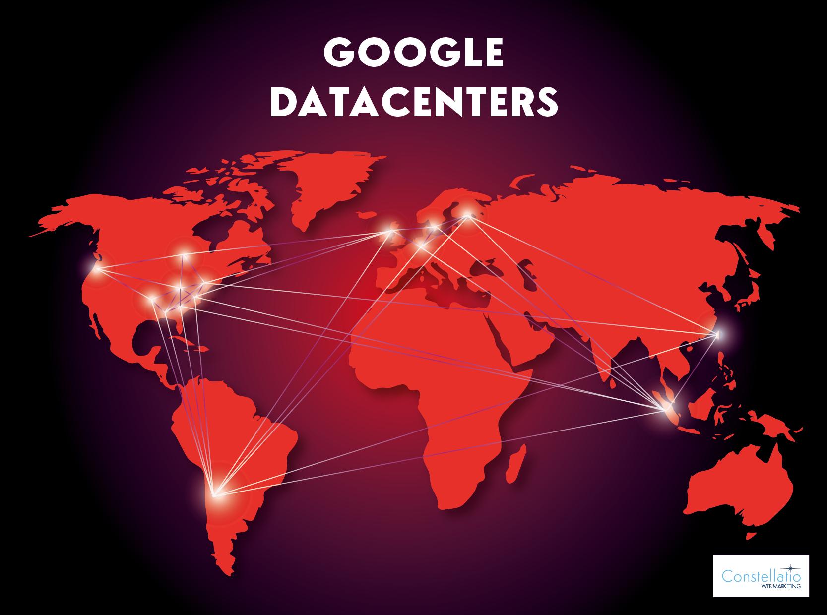 Cartographie des centres de données de Google